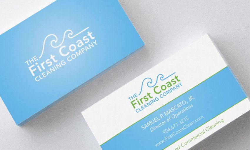 cleaning service card designs