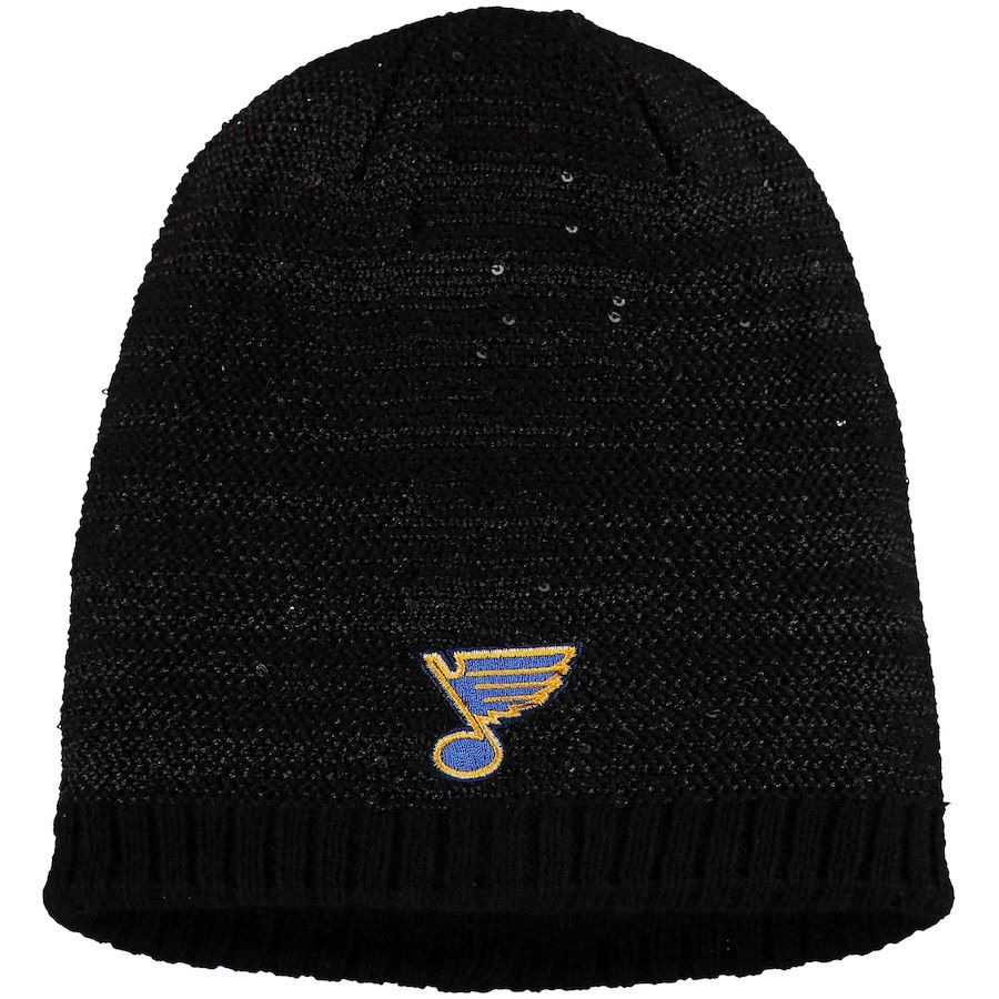7e87d30f91d Women's St. Louis Blues adidas Black Sequin Knit Beanie, Your Price: $27.99