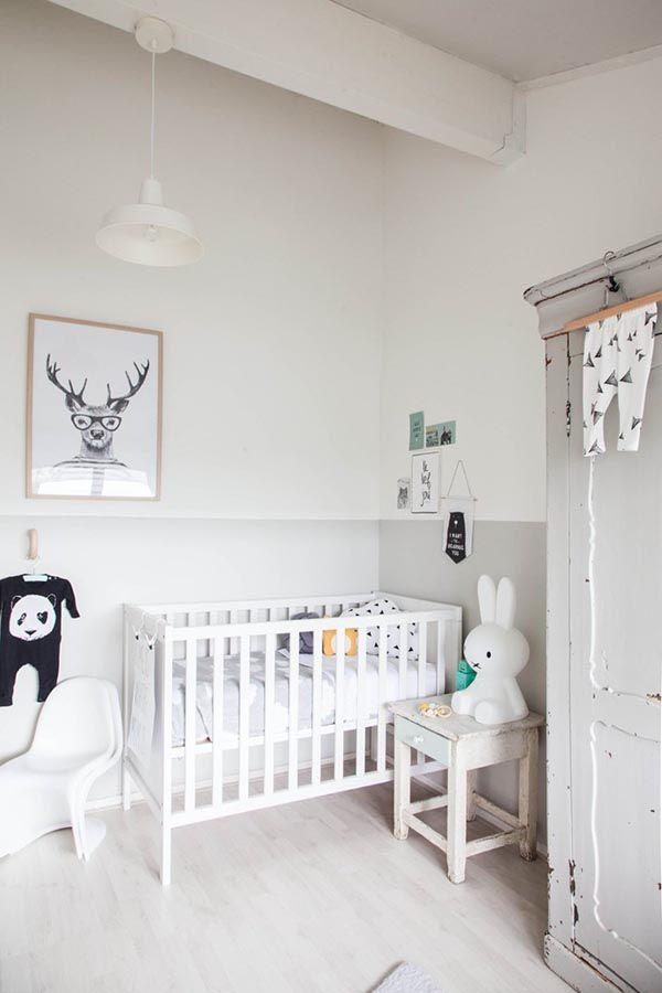 dormitorio infantil blanco y gris | Recámara de niños | Pinterest ...