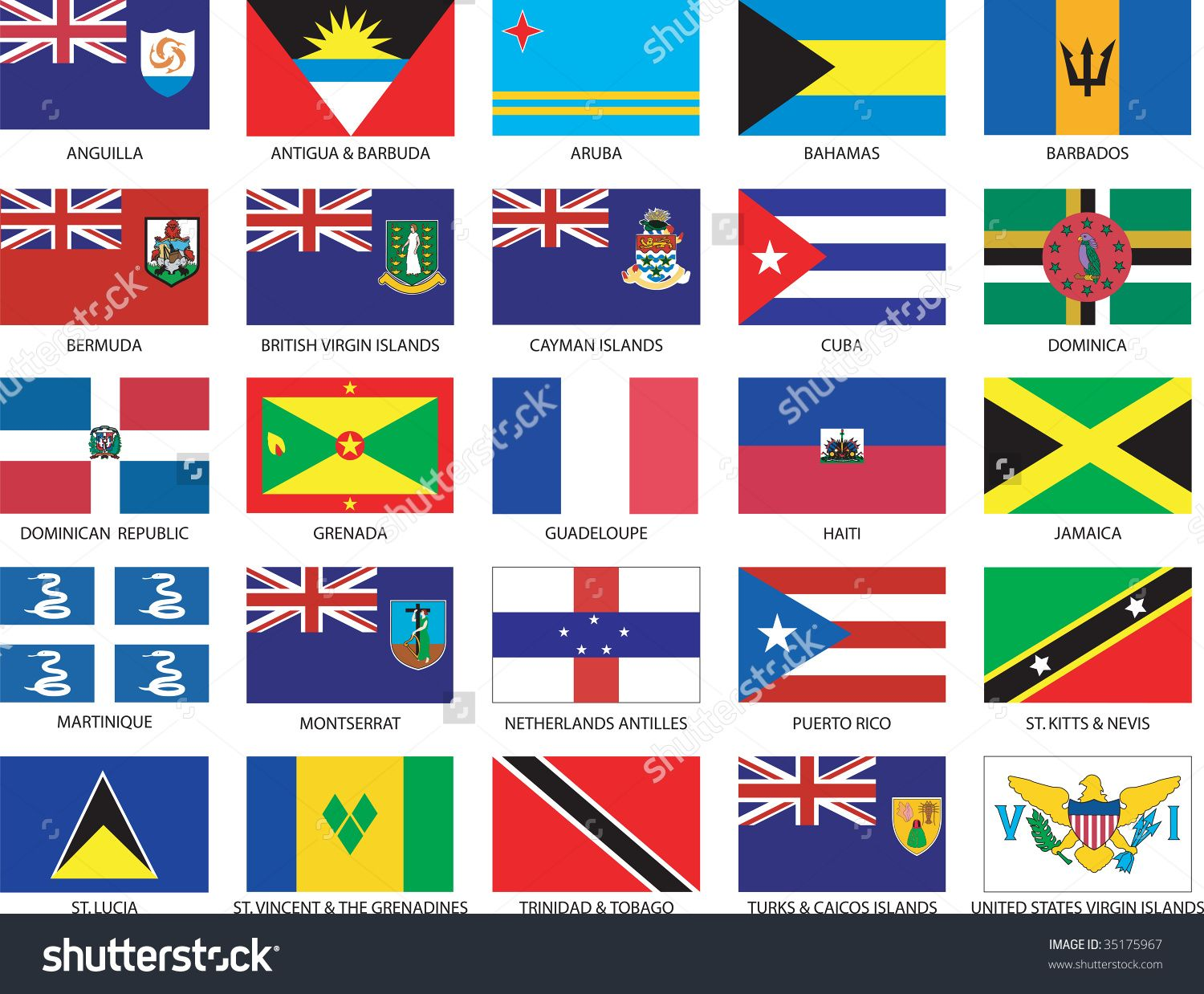 Caribbean Countries Flags Caribbean Flags St Lucia Caribbean