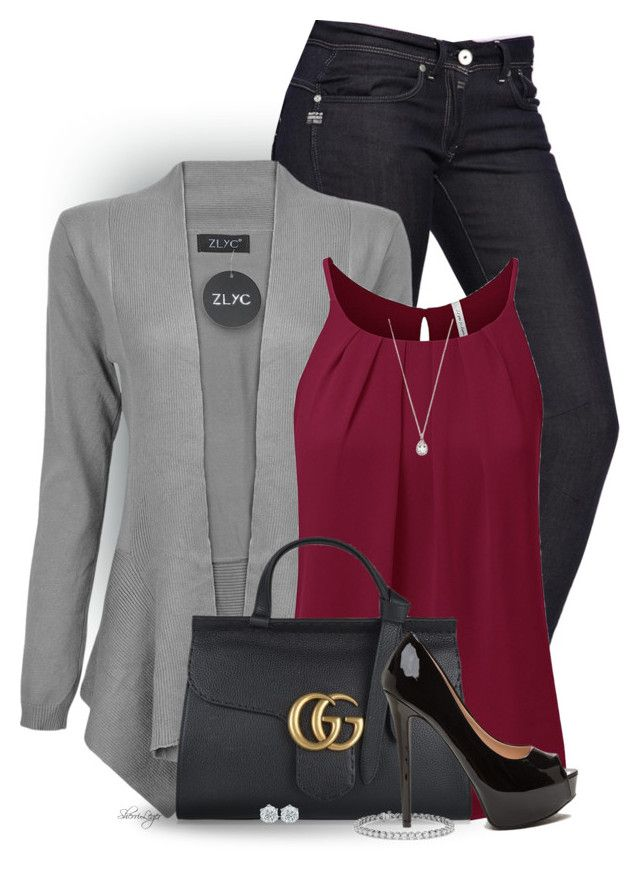 """""""Untitled #2683"""" by sherri-leger ❤ liked on Polyvore featuring G-Star, Forever 21, Gucci and Blue Nile"""