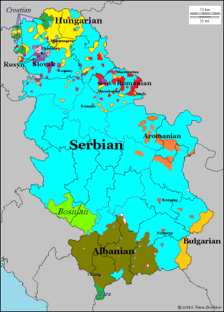 Languages Of Serbia Linguistic Mapping Pinterest Map