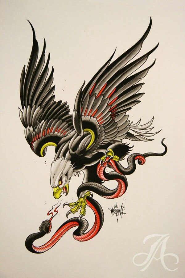 Image Result For Neo Traditional Eagle Tattoos Old School Tattoo