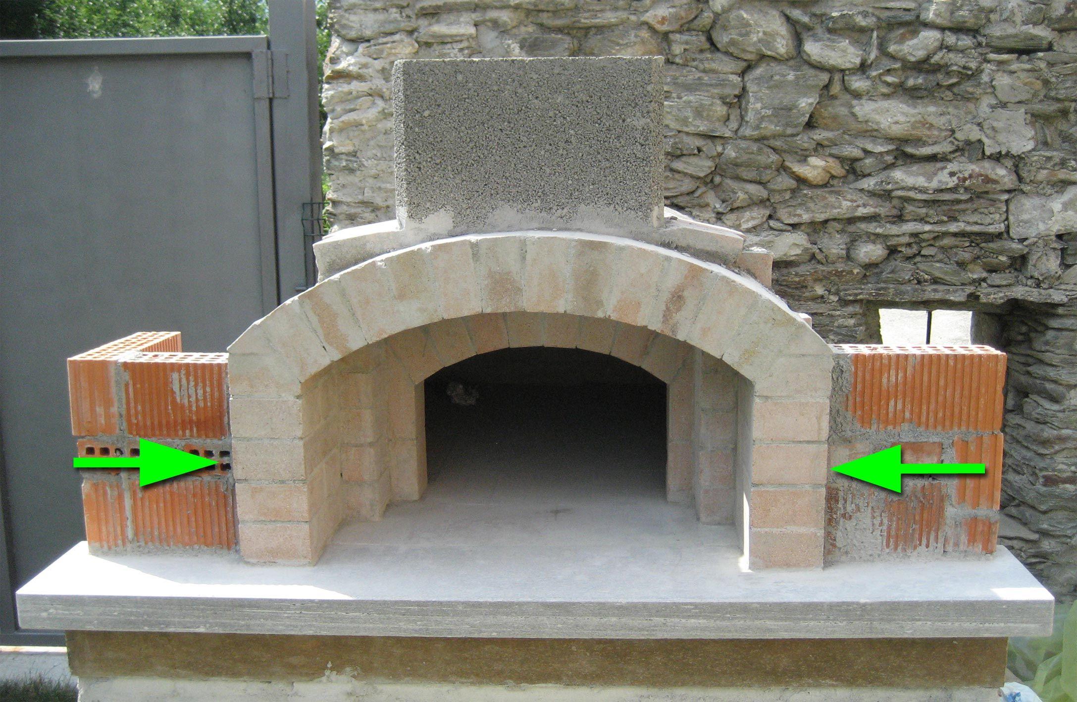Forno in mattoni refrattari a base rettangolare for Forno a legna in mattoni refrattari