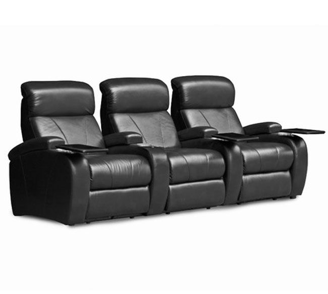 Barcalounger Showtime II Manual Recline Black Bonded Leather