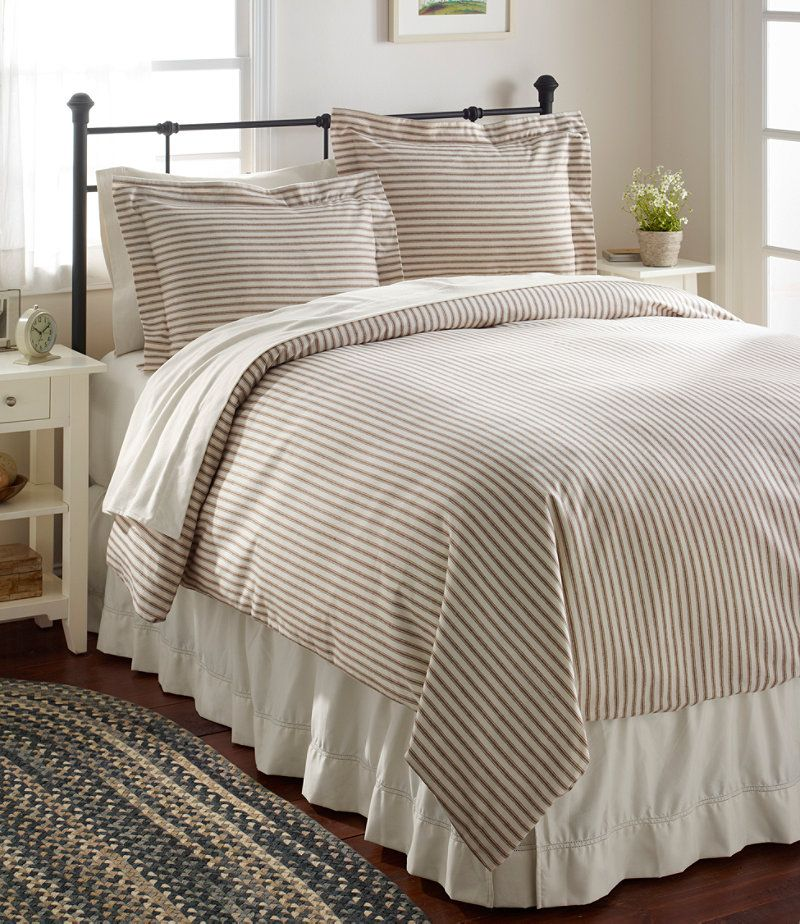 Ll Bean Love Ticking Striped Bedding With Images Comforter