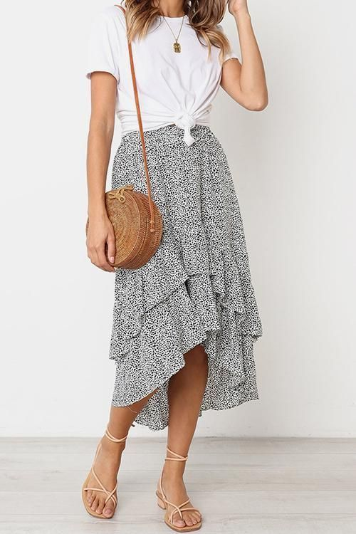 Be in Love Ruffle Skirt
