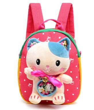 d338fb4055 Baby Girls Boys School Bag Plush Backpack Cartoon Bear Cat Kids Brithday  Gift Kindergarten Children School Bags Infant Backpacks