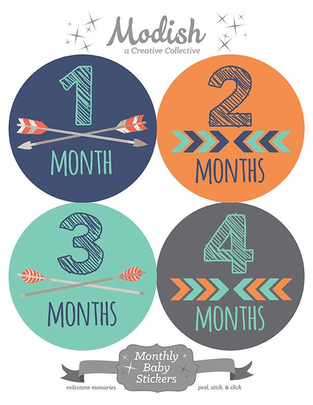 free gift tribal monthly baby stickers boy baby month stickers boy