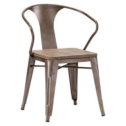 Zuo Helix  Dining Chair  - Rustic Wood (Set of 2)