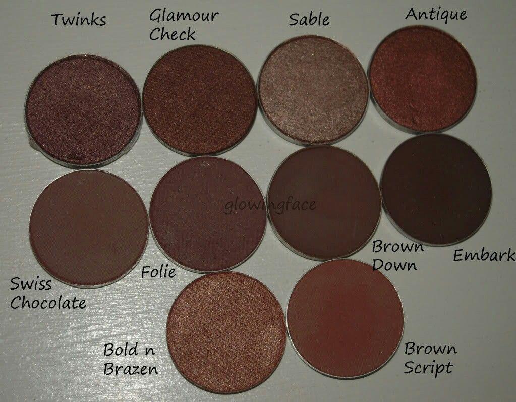 best mac eyeshadows for medium/brown/dark skin tones