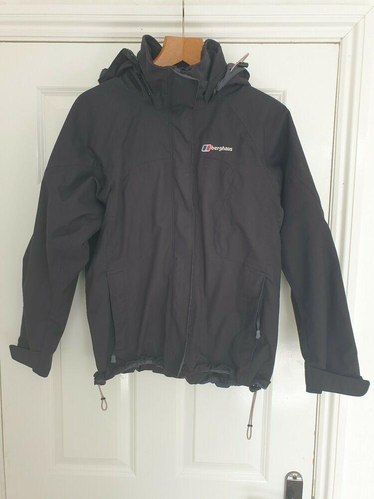 Ladies Berghaus Hooded Coat Jacket Brown Size 12 waterproof aquafoil