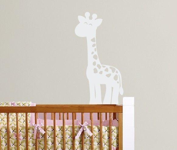 Giraffe Vinyl Wall Decal - Safari Jungle Vinyl Wall Decal - Children Nursery Baby Boy Girl & Giraffe Wall Decal Boys Vinyl Decals Safari bedroom Jungle ...