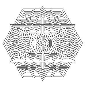 Kleurplaat Triplex Geometry Coloring Pages