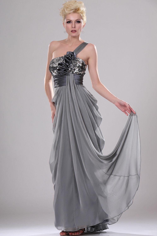 Usd edressit shimmering one shoulder evening dress with