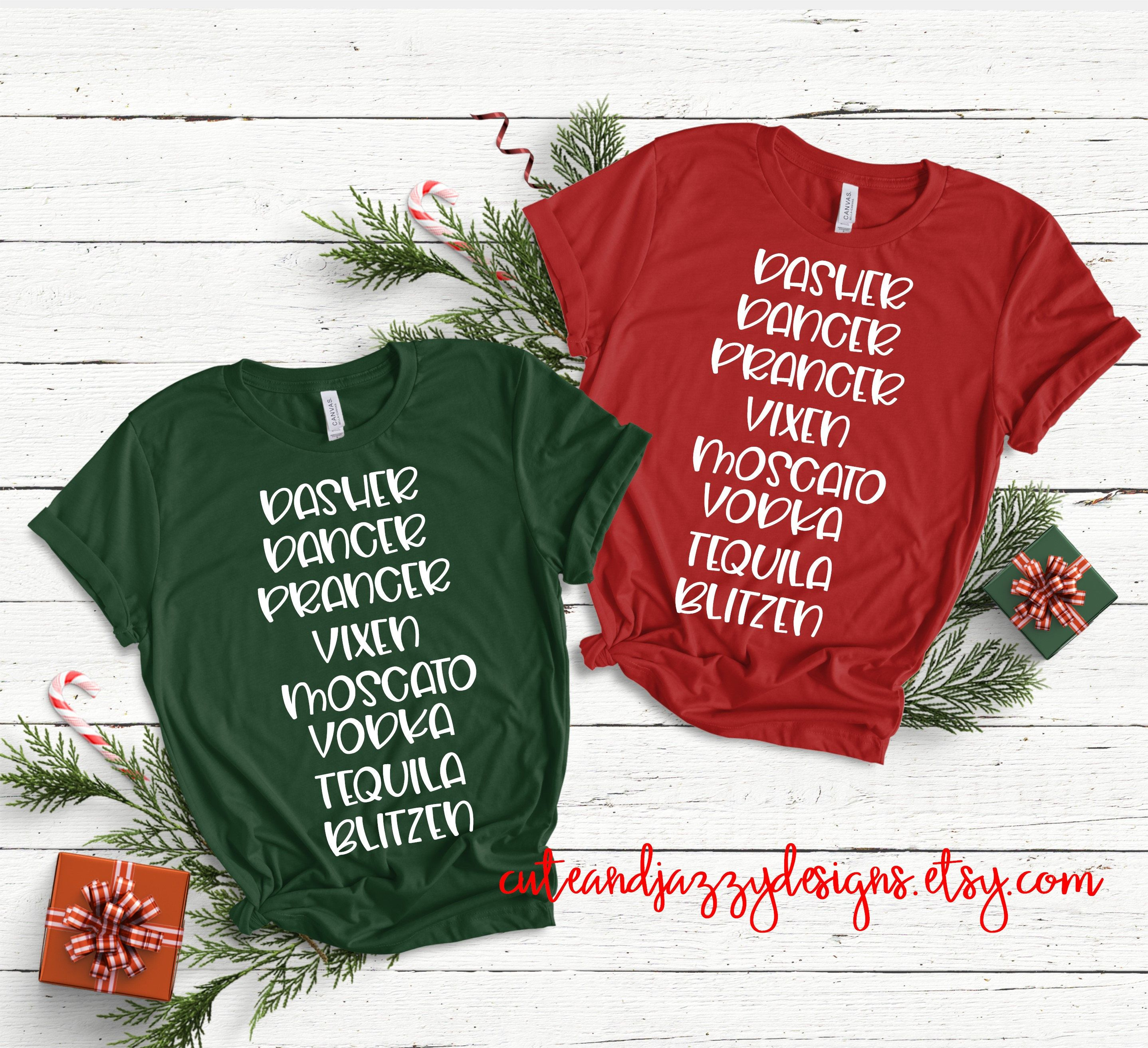 Reindeer Alcohol Names Rum Vodka Tequila Christmas T Shirt Etsy In 2020 Matching Christmas Shirts Christmas Tshirts Christmas Shirts