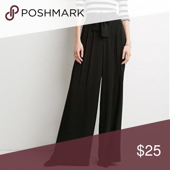 Forever 21 Belted Wide Leg Pants Black Nwt In 2018 My Posh Picks