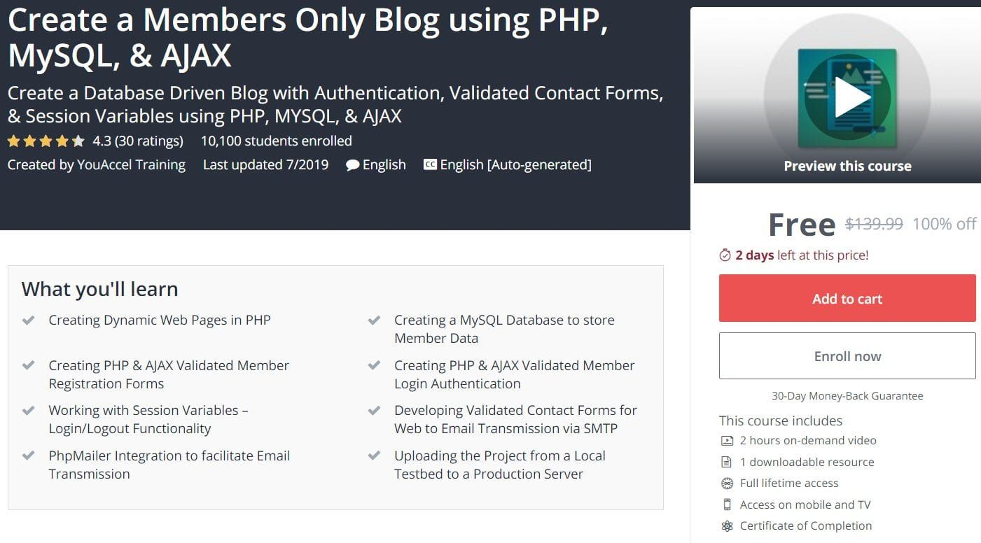 Create A Members Only Blog Using Php Mysql Ajax In 2020
