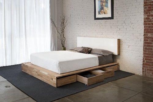 interessante bett designs mit stauraum schubladen holz modern new - schlafzimmer modern holz