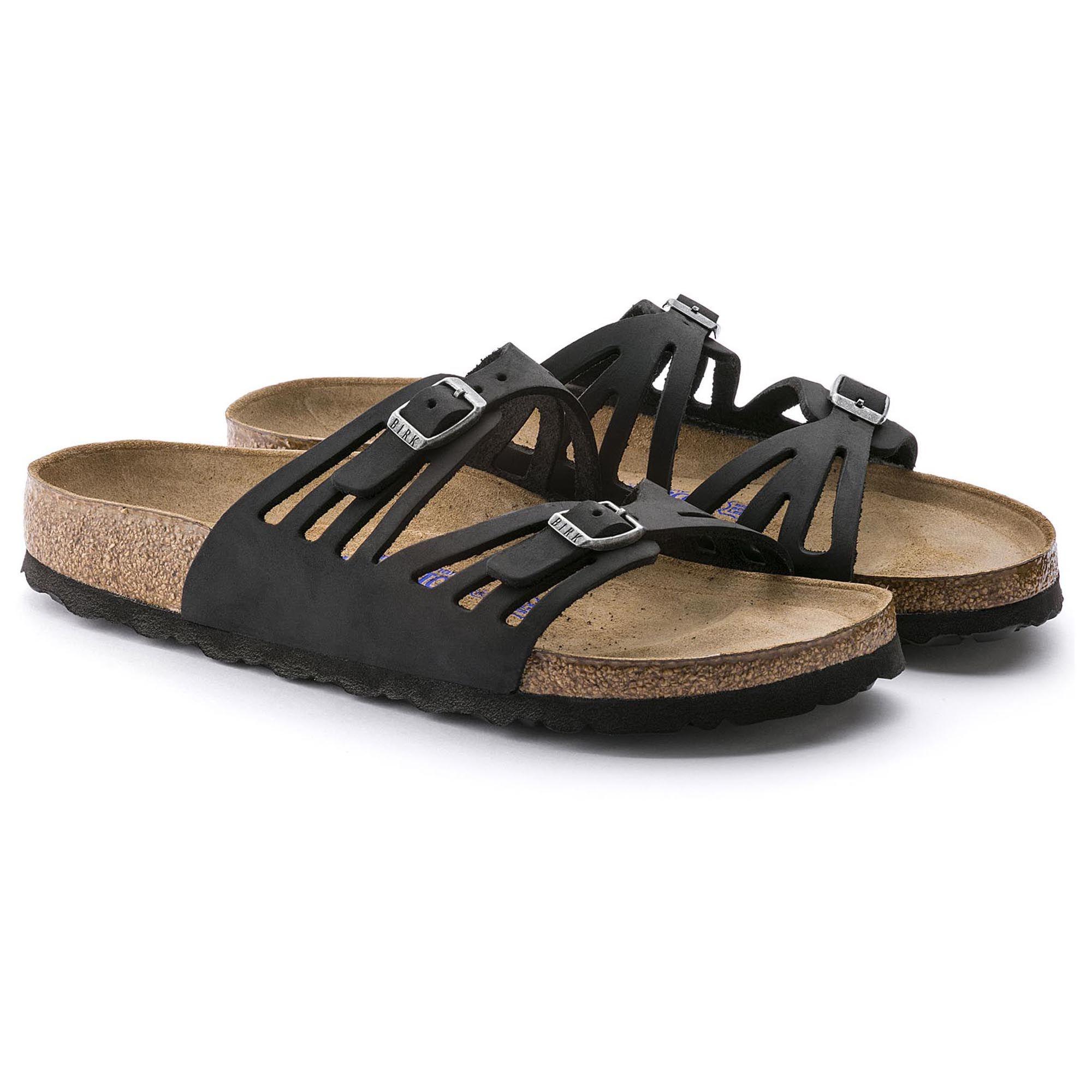 04ca08becfee Granada Soft Footbed Black Oiled Leather Birkenstock Granada