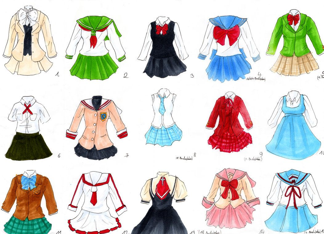 School Uniform Quiz By Littlesara On Deviantart Anime Outfits