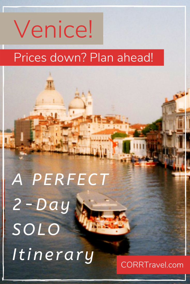Plan ahead to enjoy Venice, Italy with a great 2-day itinerary including where to stay, where to eat, and top things to do - for less than 100 Euros/day. By @corrtravel     #corrtravel #corrtraveler #travel #travelphotography #travelcheap #solotravel #femaletravel #travelgram #travelguide #travelitinerary #wanderlust #travelblogger #lovetotravel #doyoutravel