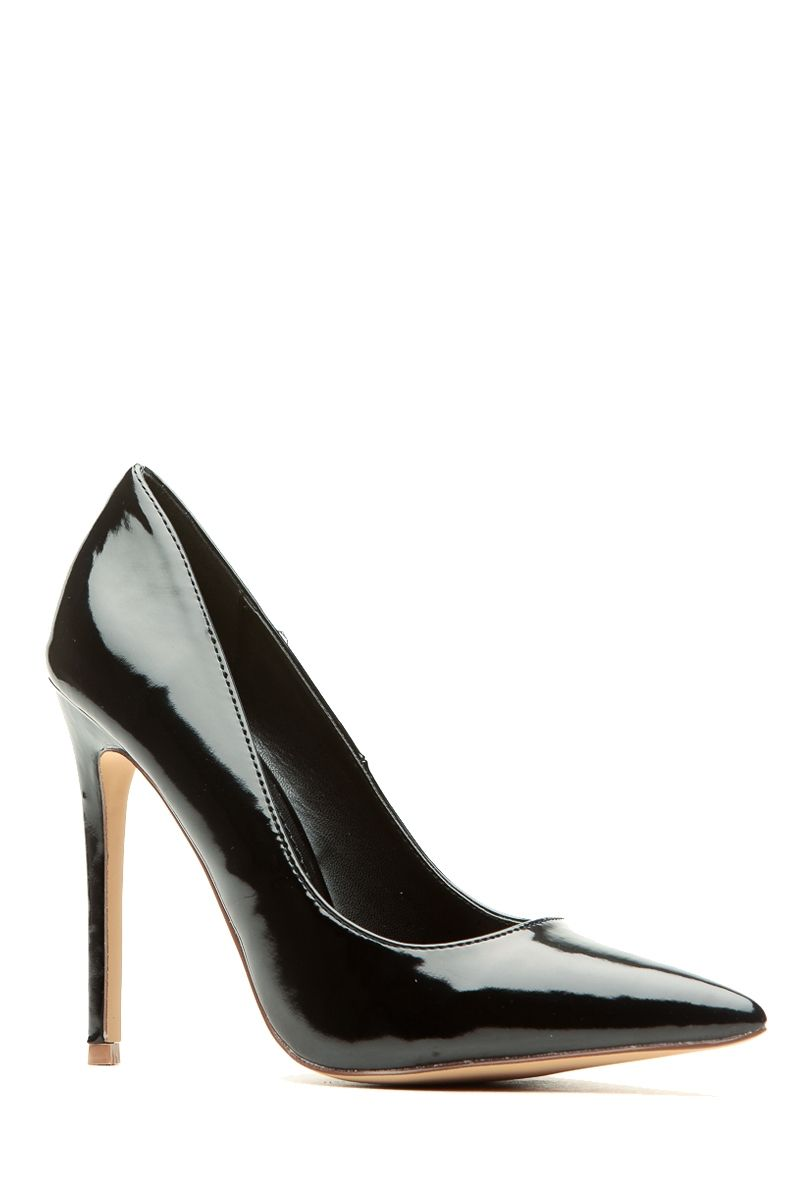 cb25da58c Black Faux Patent Leather Pointy Toe Classic Pumps @ Cicihot Heel Shoes  online store sales:Stiletto Heel Shoes,High Heel Pumps,Womens High Heel  Shoes,Prom ...