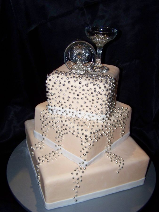 Glamourous Glass Cake Toppers