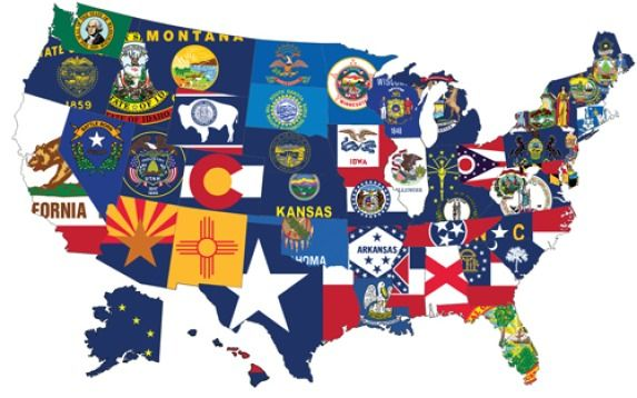 State Flags | flags | Pinterest | 50 states, Map and United states