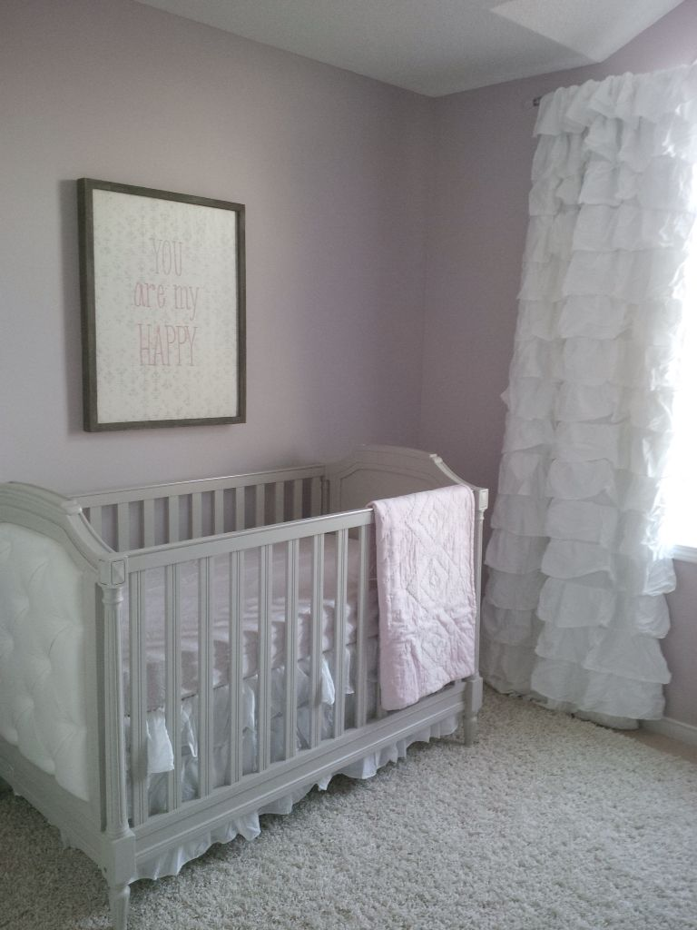 Master bedroom wall benjiman moore vaguely mauve pottery barn blythe crib new house Master bedroom with a crib