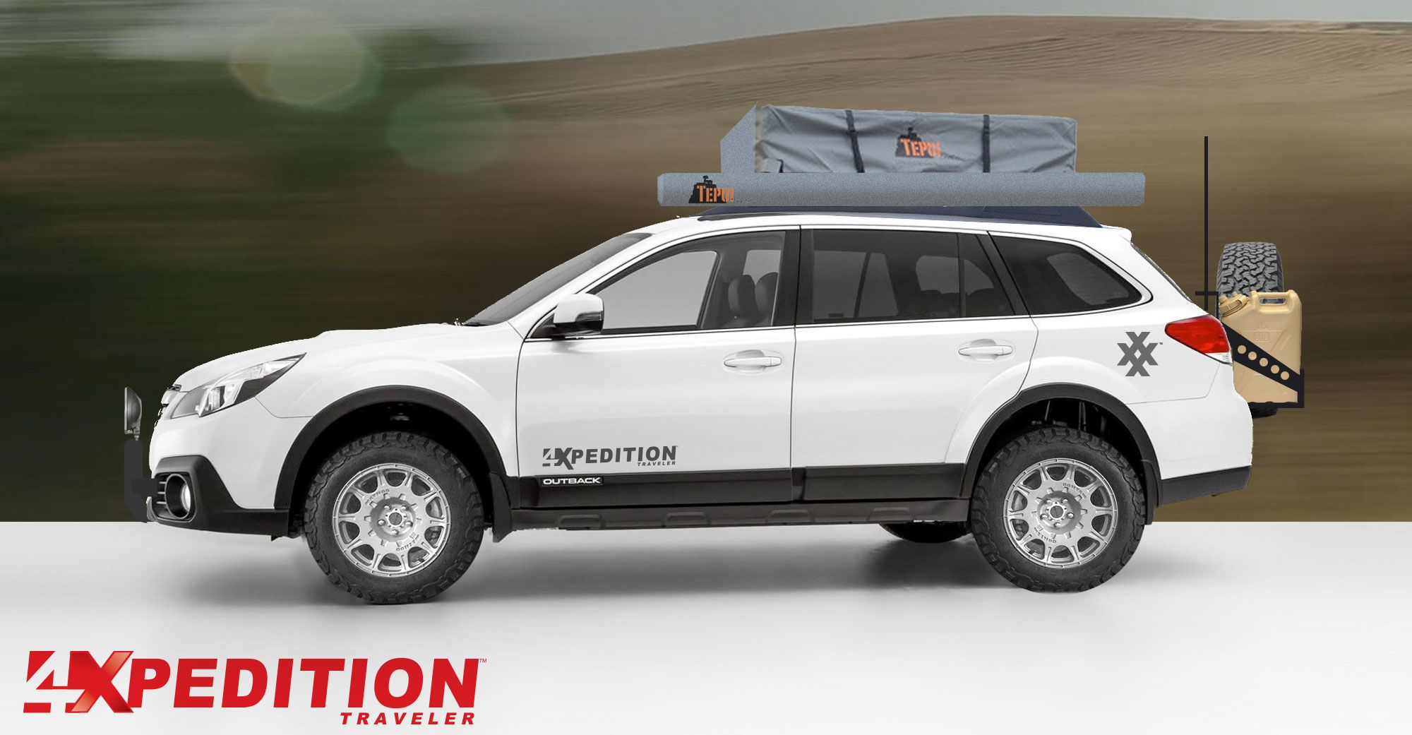 Our concept 4XPEDITION Subaru Outback Overland. http://www.4xpedition.com