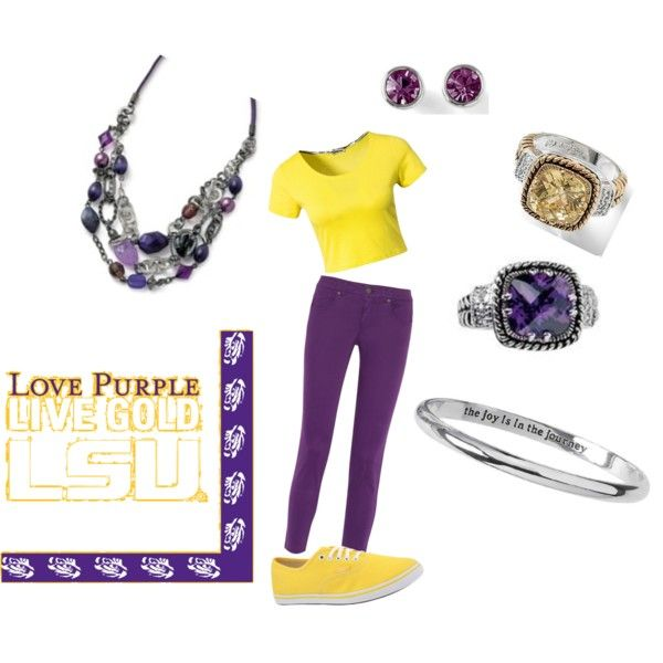 """LSU"" by sonnee-stanley on Polyvore"