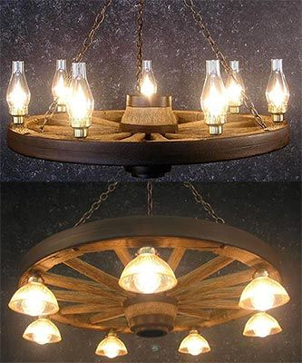Do you love a western decor theme perfect lighting for your country these wagon wheel chandeliers are an exceptional value the wheel and frame are cast from medium density polyethylene for an authentic appearance aloadofball Gallery