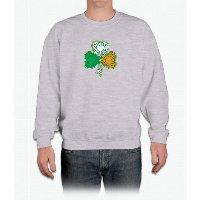 Shamrock and Heart Design Crewneck Sweatshirt