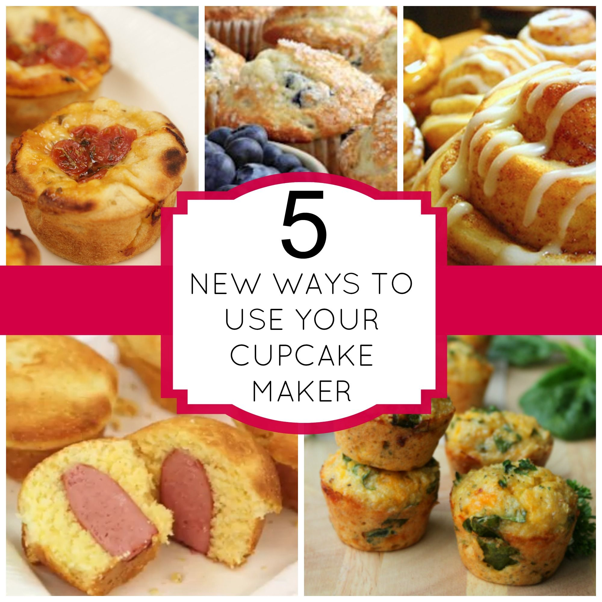 5 Ways To Use Your Cupcake Maker | Cupcake Obsessed Recipes