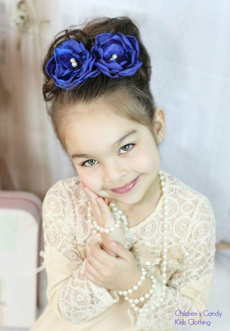 Royal Blue Flower Clip Pin  Something Blue Wedding Accessory  Blue Flower Pin Clip  Bridal Hair Flower -Something Blue Flower Clip #bridemaidshair