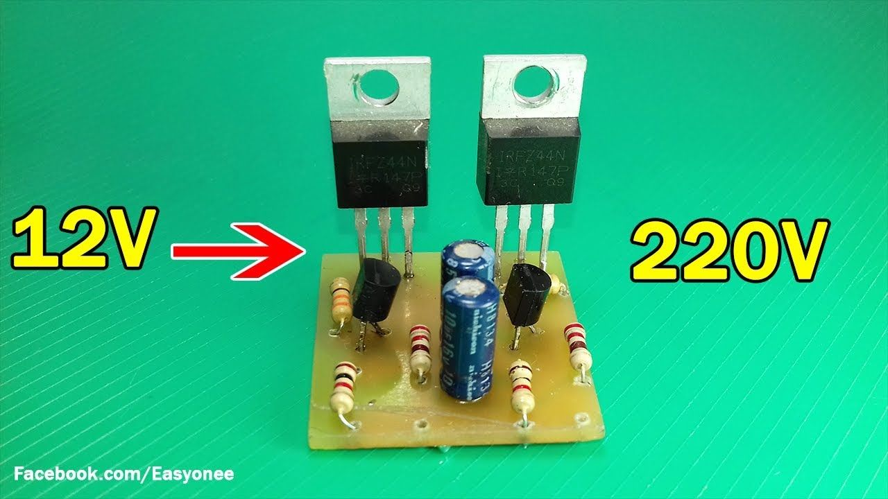How To Make Simple Inverter 12v 220v Using C1815 Transistor An Works Electronic Circuits And Diagramelectronics