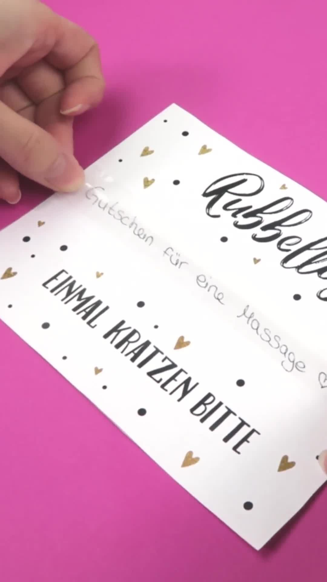 DIY Rubbellos mit Druckvorlage