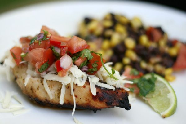 DONE- Yum!  Tequila Lime Chicken- skip the cheese, serve on homemade tortillas with avocado & carmelized onions