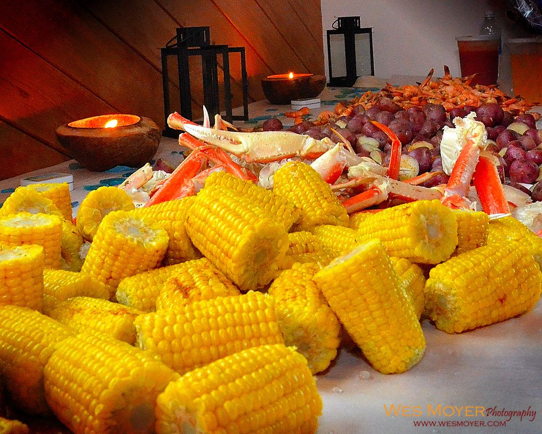 Mmmmm - Wedding Feast! Indoor Beach Wedding