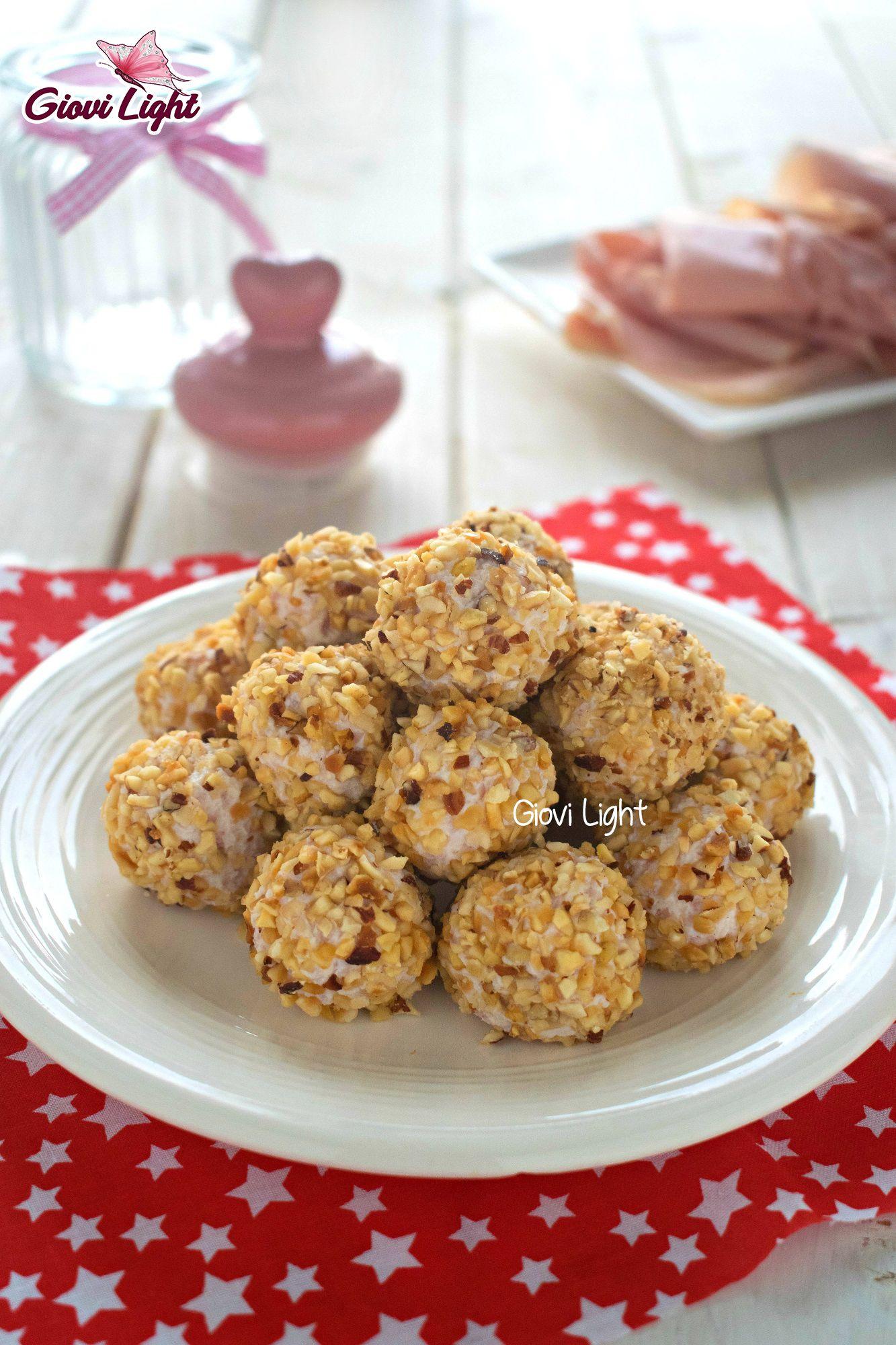 Praline salate light al prosciutto e nocciole con il bimby e senza   Giovi Light