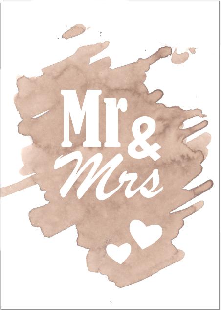 Huwelijksuitnodiging Oud-bruin
