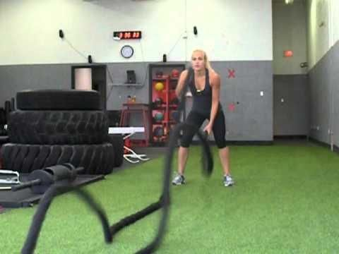 Battle Rope Tabata @ Powerhouse Training  This is my old trainer being awesome. Tabata workouts are great for boosting your metabolism for up to 24 hours. This one looks great for upper body conditioning. Trying it TOMORROW!!