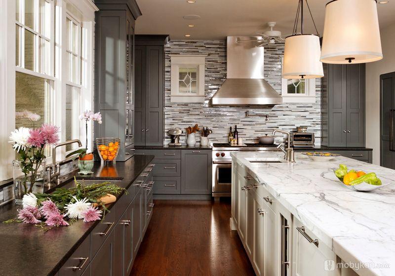 صور مطابخ حديثه و اشكال مطابخ مودرن و مميزه من موبيكان Contemporary Kitchen Kitchen Design Kitchen Style