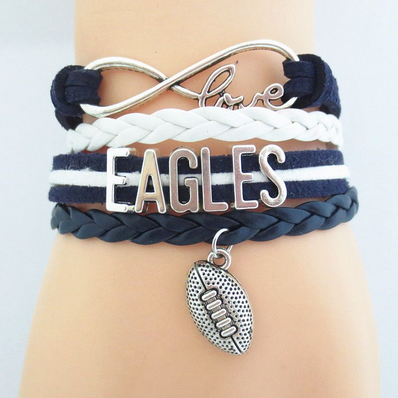 Infinity Love Eagles Football Show Off Your Teams Colors Cutest Bracelet On The Planet Don T Miss Our Special S Event