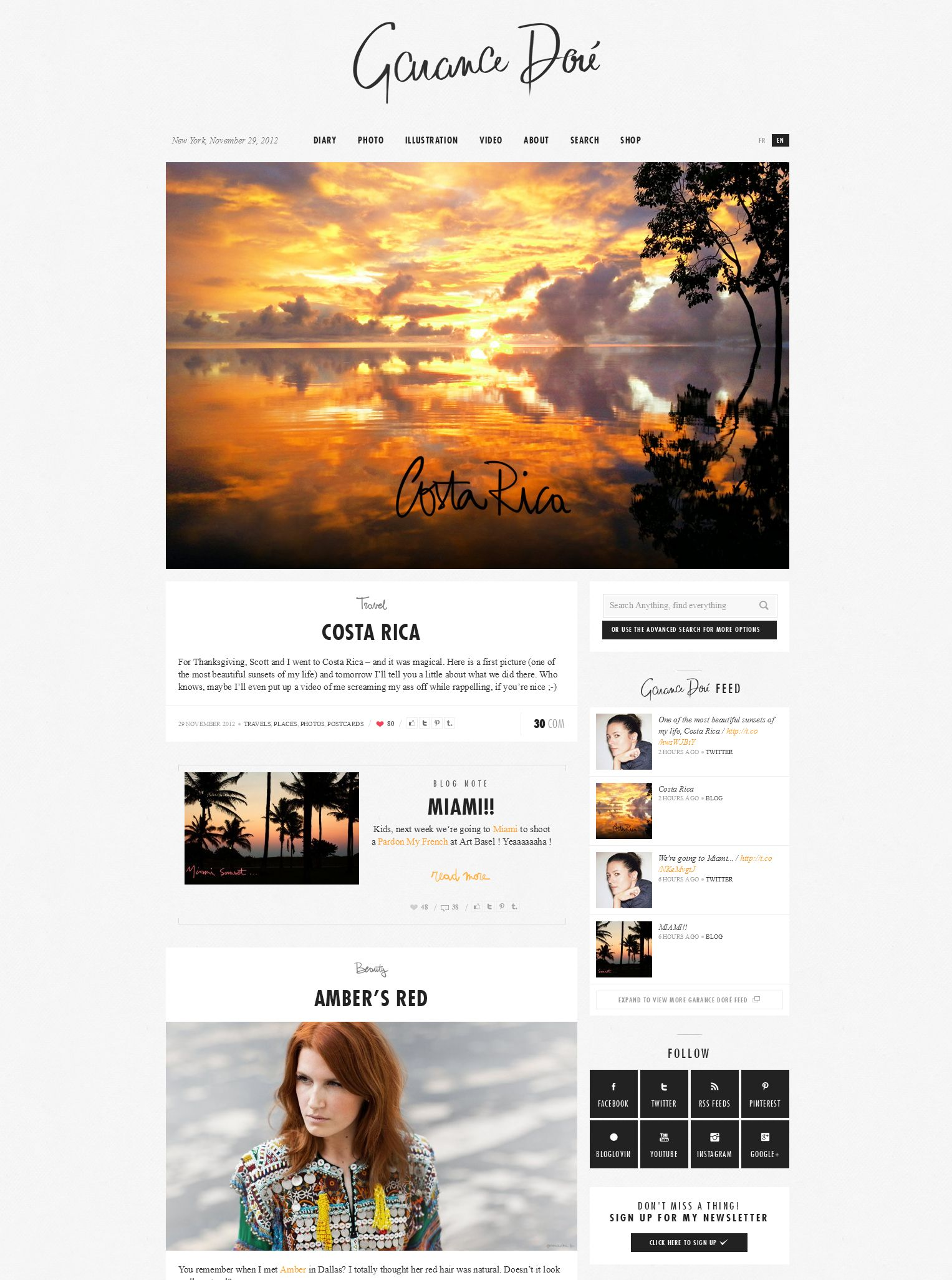 refined palette, solid branding, exquisite blog layout -- clean & classic