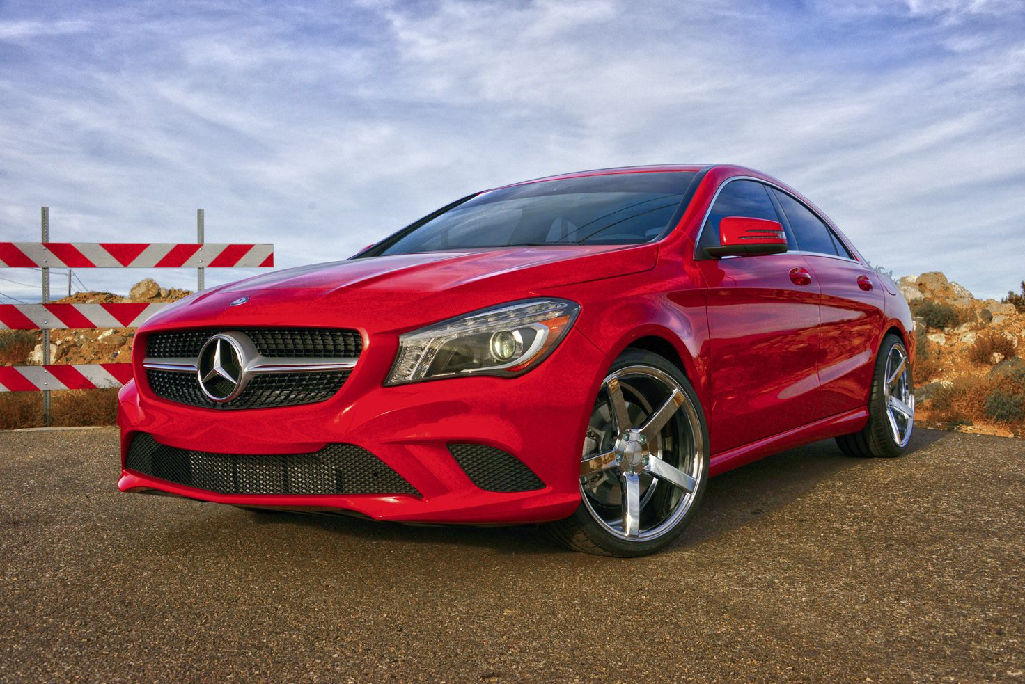 2014 red mercedes benz cla with custom cv3 39 s for Mercedes benz customized