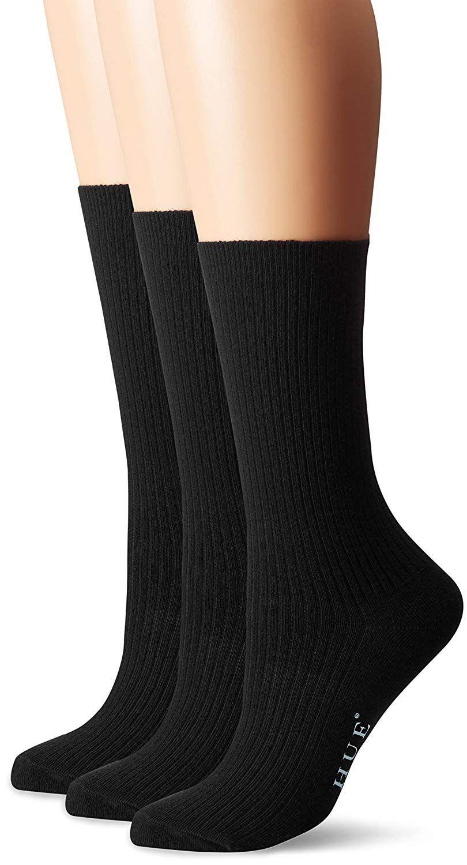 Hue Women S 3 Pack Relaxed Top Socks Black One Size At Amazon Women S Clothing Store Dress Socks Women Socks Sock Packs [ 1500 x 810 Pixel ]