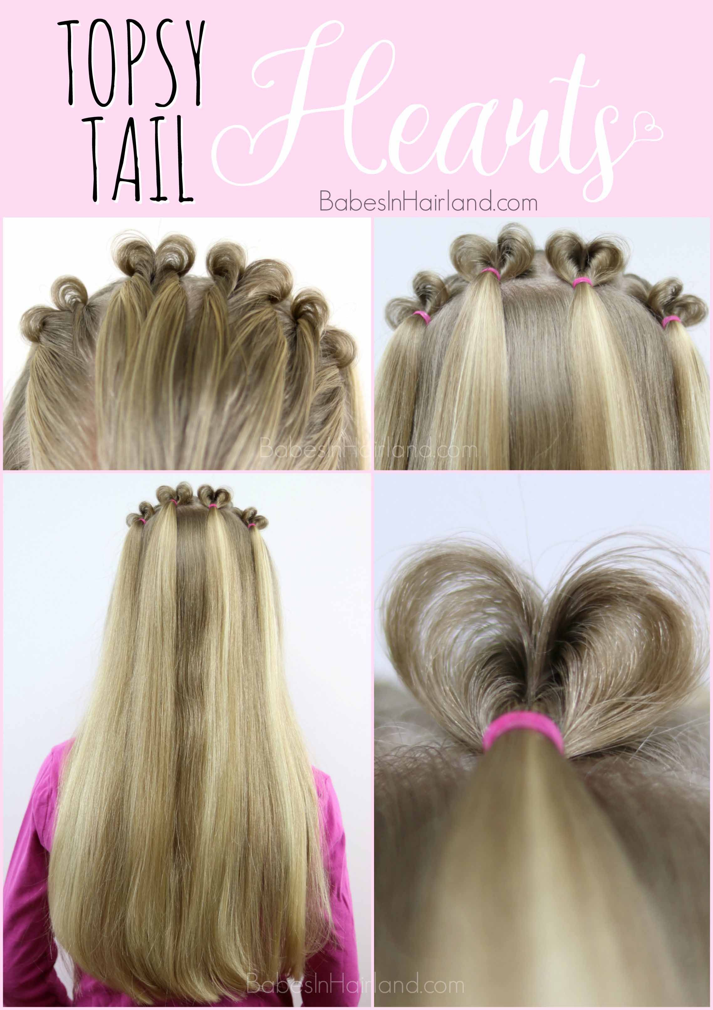 Topsy Tail Hearts Valentine S Day Hairstyle Valentines Hairstyles Valentine S Day Hairstyles Topsy Tail Hairstyles