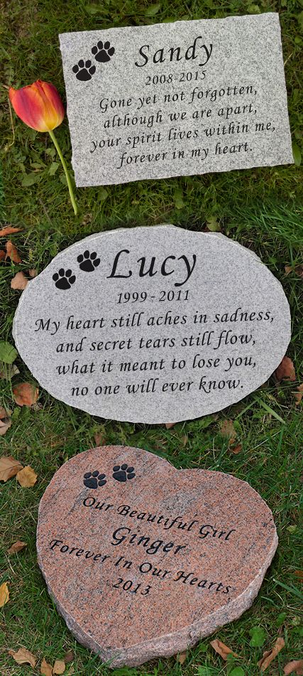 Custom Engraved Pet Memorial Honor Your Beloved Pet With